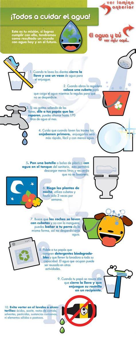 tips cuidar el agua spanish pinterest tips  marketing