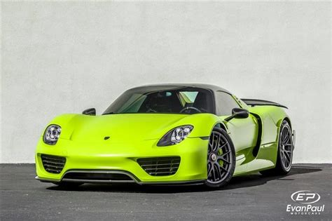 porsche 918 acid green porsche 918 spyder weissach package acid green gallery up