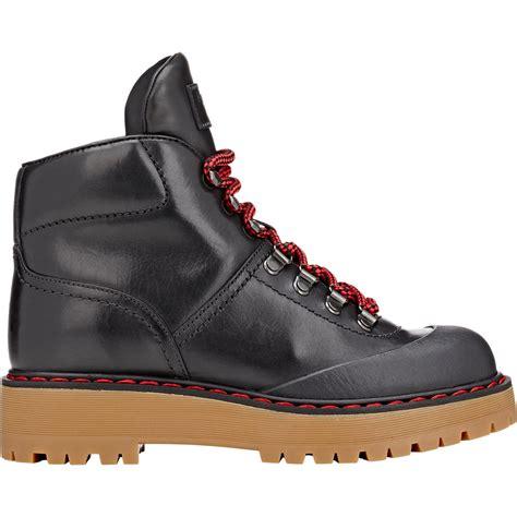 prada hiking boots prada linea rossa s felt concealed wedge hiking