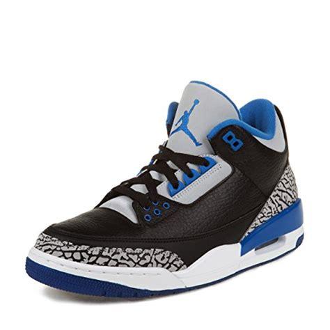 air retro 3 basketball shoes nike mens air retro 3 basketball shoes black sport