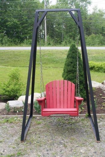 antique porch swing quot antique red quot single porch swing penbay pilot