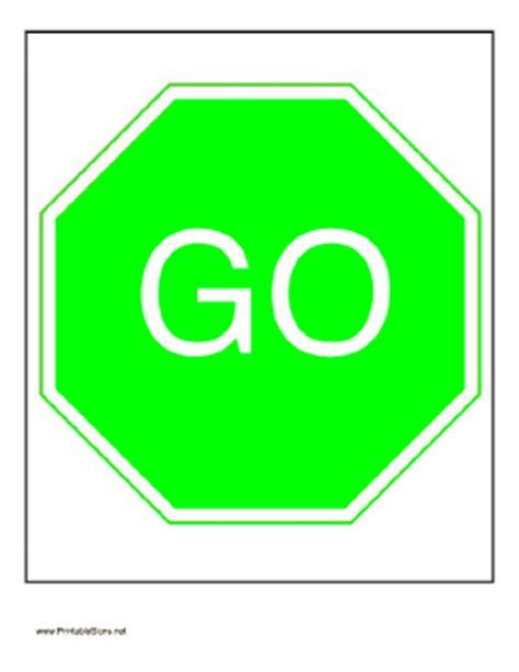 Go Templates printable go sign
