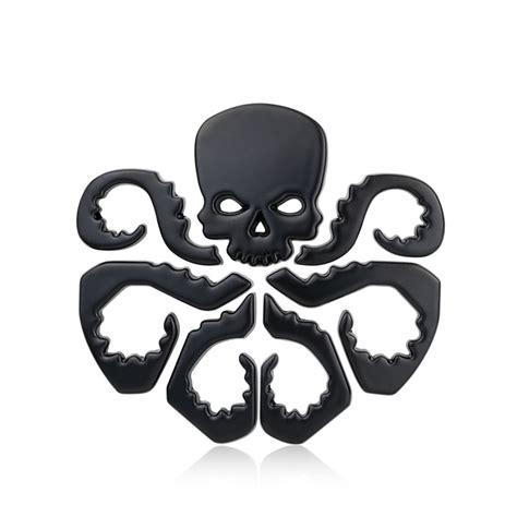 Emblem Metal Sticker Punisher Skull Logo 3d Chrome chrome metal skull car emblem stickers logo decoration metal 3d the hydra car styling