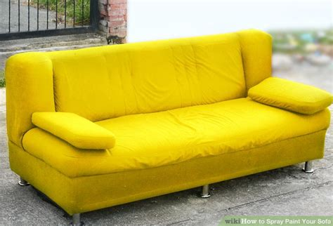 how to remove paint from sofa how to spray paint your sofa 14 steps with pictures