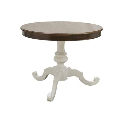 tavolo rotondo allungabile legno tavolo tondo shabby chic allungabile con in legno gamba