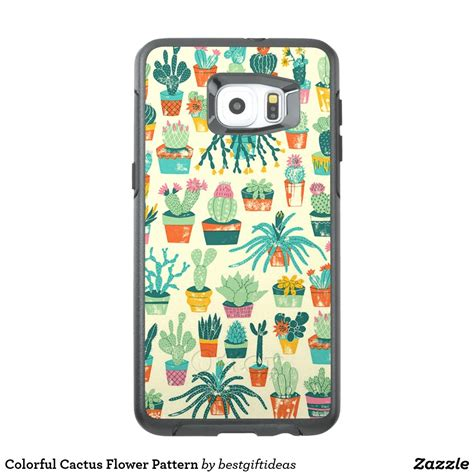 colorful cactus flower pattern otterbox samsung galaxy