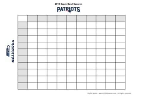 DIY :: 2015 Super Bowl Football Betting Squares {Free