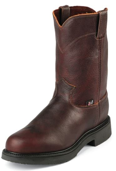 justin double comfort boots justin 4798 men s double comfort collection work boot with
