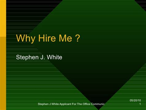 presentation templates for job interview why hire me presentation
