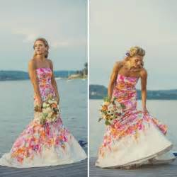 colorful dress 18 colorful wedding dresses for the non traditional
