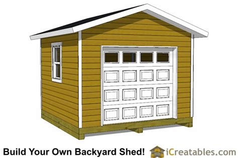 12x12 Shed Plans With Garage Door Icreatables 12x12 Overhead Door