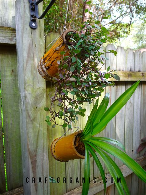 easy bamboo planters craft organic