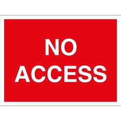 Corner Picture Frames no access signs from key signs uk