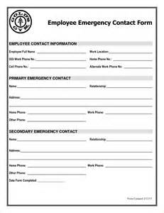 emergency contact form template search results for employee emergency contact form