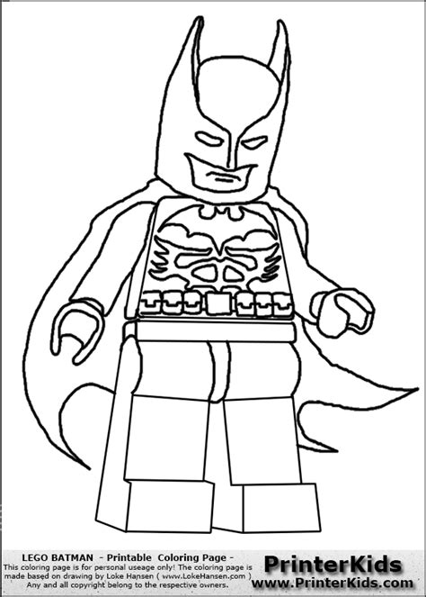 Lego Batman Coloring Page Coloring Home Lego Colouring Pages For
