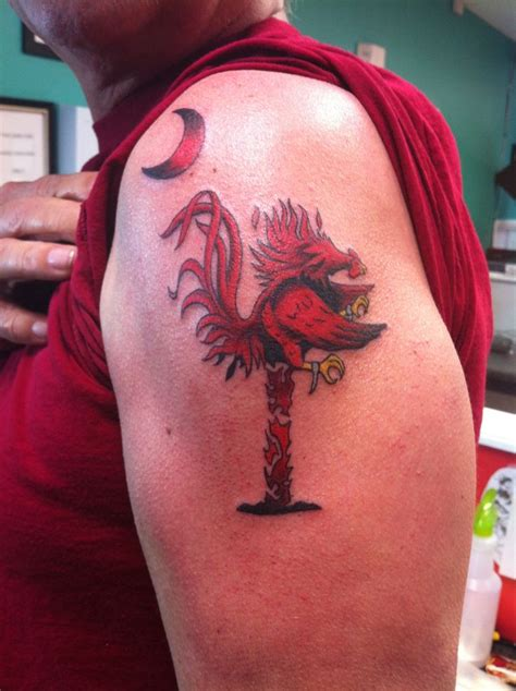 usc tattoo gamecock palmetto tree mario trees