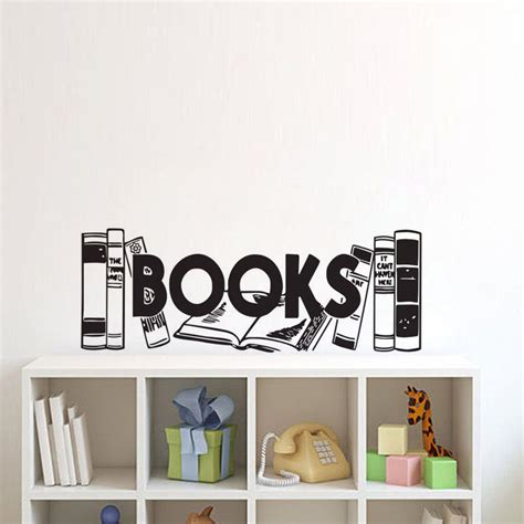 cool wall stickers to complete kids room decor digsdigs ehome books wall stickers home decor living room kids