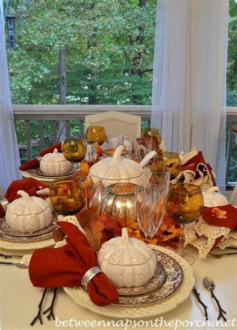 Fall Table Settings Autumn Table Setting With Spode Woodland And Pumpkin Tureens
