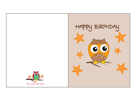 Free Birthday Card Template by Free Birthday Card Templates To Print No2powerblasts