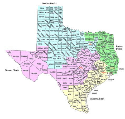 texas federal district court map texas federal district court map my