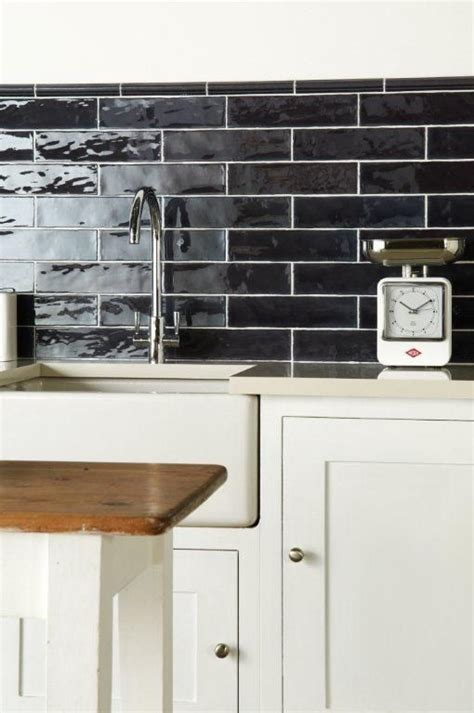 Handmade Tile Companies - sloe brick tiles are glossy and subtly textures from