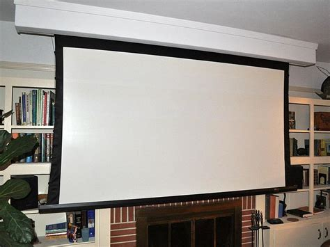 living room projector for our next living room roll up screen in from of book