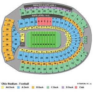 Ohio State Stadium Map by Ohio State Buckeyes Tickets 2017 Osu Football Tickets