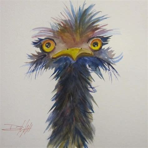 paint nite emu neck ostrich painting by artist smith duck