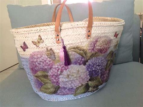 ideas diy customizar bolsos o capazos diy de como decorar capazos patrones gratis