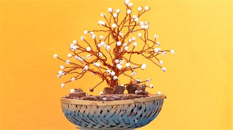 how to make artificial bonsai tree craft tutorial youtube