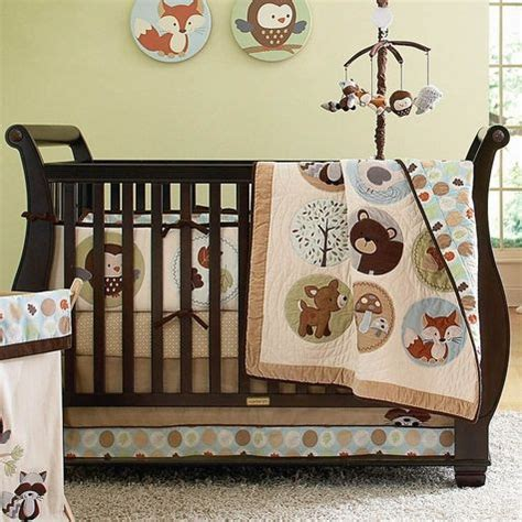 Woodland Friends Crib Bedding by Crib Bedding Woodland Animals Oh Baby