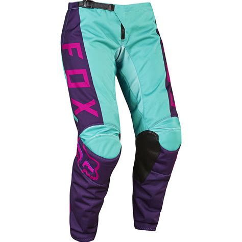 motocross pants and jersey fox racing 2017 ladies mx gear new 180 purple pink aqua