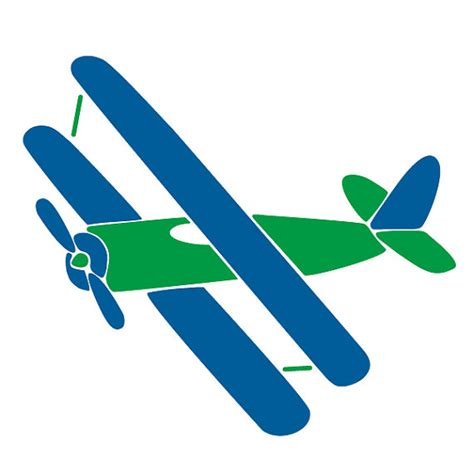 Airplane Wall Mural airplane wall stencil for painting kids or baby room mural