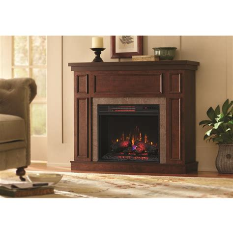 Electric Fireplace With Faux by Home Decorators Collection Granville 43 In Convertible