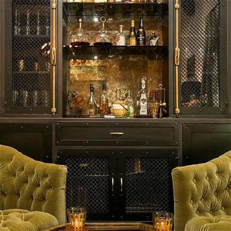 living room bar cabinet hollywood regency green and black living room with