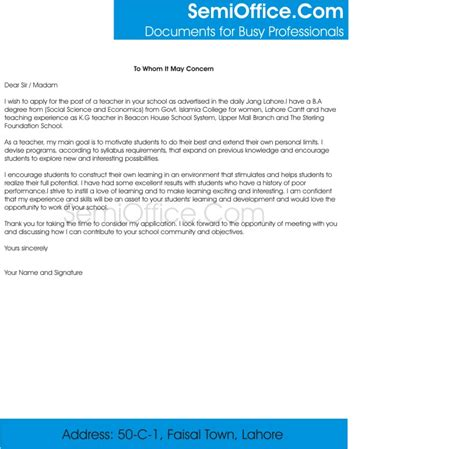 Email Cover Letter Teaching Position cover letters for teachers sles free
