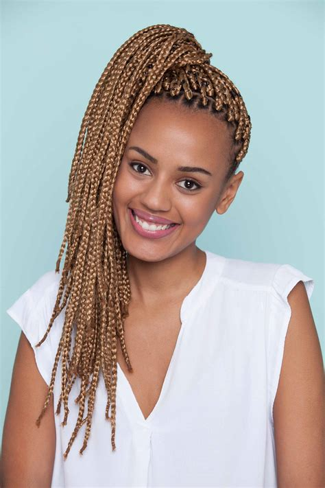 pony hair box braids thick hair ponytail hairstyle ideas and inspiration for