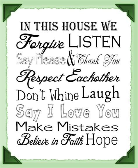 printable house rules get outta my head please house rules free printable
