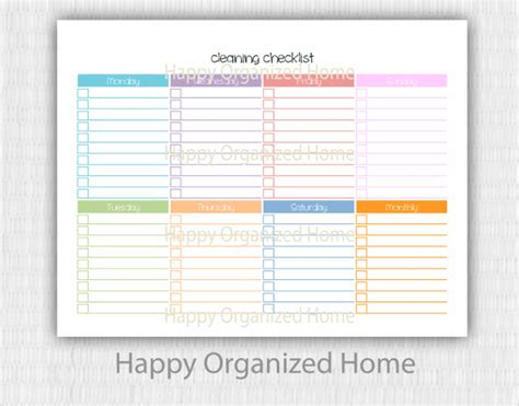 Editable Cleaning Schedule Template Emmamcintyrephotography Com Editable Cleaning Schedule Template