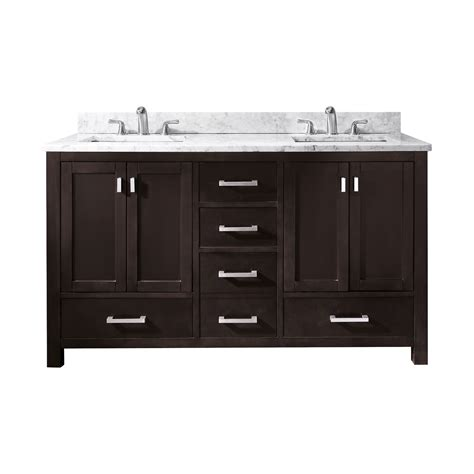 double bathroom vanities lowes avanity modero v60 modero 60 in double sink bathroom