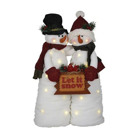 shop santa s workshop snowman couple animatronic pre lit