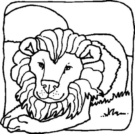 realistic lion face coloring pages