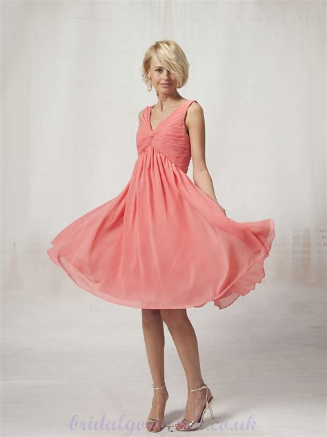 Coral Bridesmaid Dress by Coral Chiffon Bridesmaid Dresses Ipunya