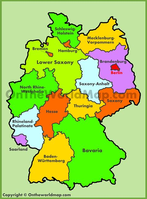 map germany administrative map of germany