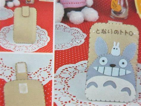 handmade diy felt plush craft kit totoro brown phone