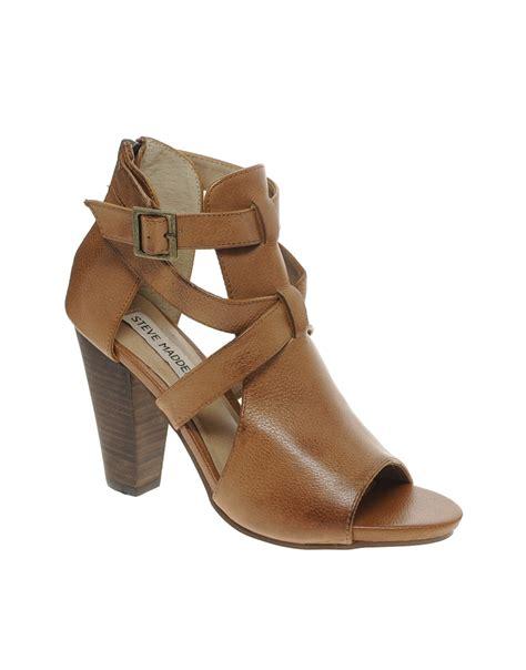Steve Madden Heeled Sandals by Steve Madden Springg Heeled Sandals In Brown Lyst