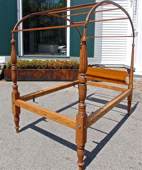 canopy bed frame tiger maple wood poster bed american period american federal tiger maple four poster canopy bed