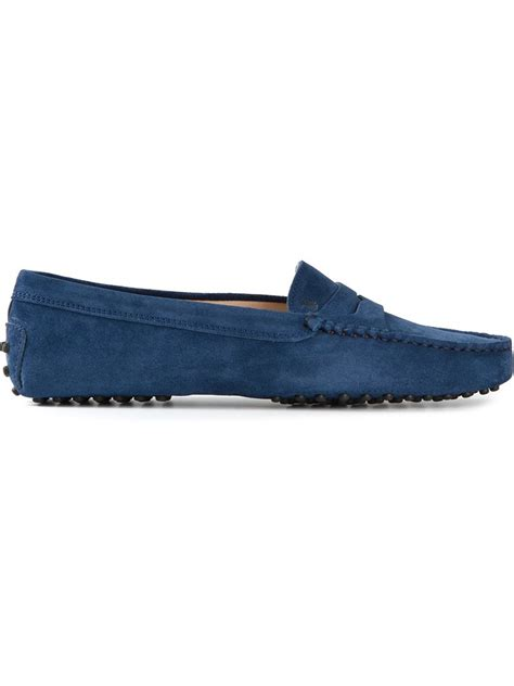 tods driving shoes womens tod s gommino driving shoes in blue lyst