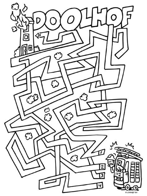 woonboot puzzel kleurplaat doolhof brandweer vuur kleurplaten nl