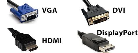 differenze tra cavo hdmi displayport dvi e vga